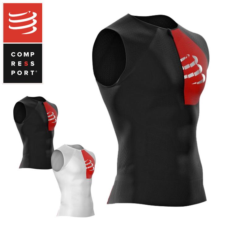 COMPRESSPORT コンプレスポーツ TSTRIV2-TK ポスチュラル エアロ タンク トップ コンプレッション 加圧 ラン ランニング トライアスロン triathlon トライアスロン ウェア