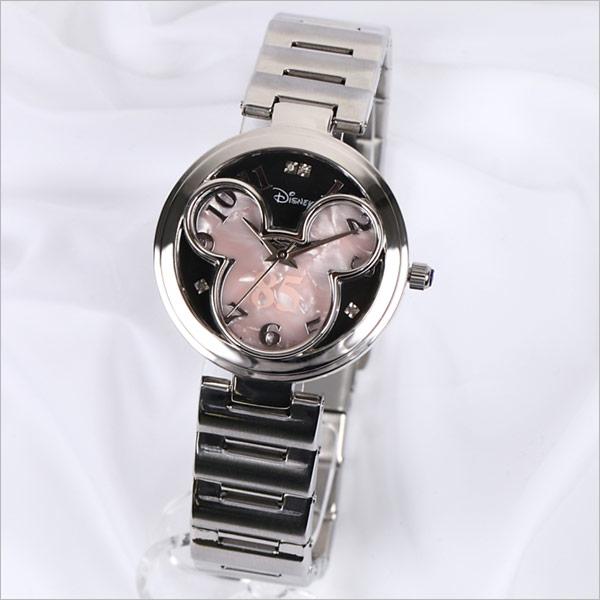 【あす楽】【時計】ミッキー フェイスウォッチ/ピンク