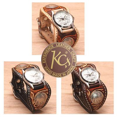【正規取扱店】【レザーウォレット専門店】【送料無料】【日本製】【腕時計】KC,sケイシイズ エスパニューラ クラフト デラックス ケーシーズ本革時計[ケーシーズ]