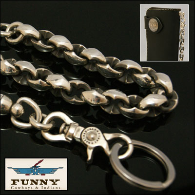 4d0e66010e63 楽天市場】FUNNY ≪SE-1 ファニー ウォレットチェーン Silver925 ...