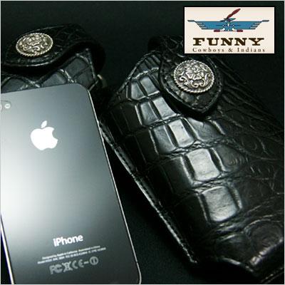 【iPhone SE 5 5s 対応】FUNNY/ファニー モバイルケース ≪クロコダイル≫/スマートフォン/ハンディホンケース/携帯ケース/携帯電話ケース/本革/レザー【送料無料】