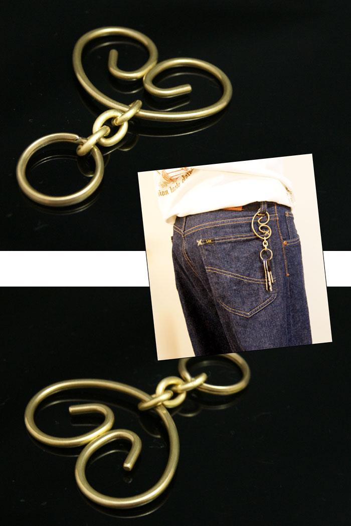 键吊钩钱包链子皮革钱包钥匙便于安装的黄铜(胸罩)旋涡型钥匙圈钥匙圈键吊钩桶表面涂层济黄铜洁净锁链链子骑摩托车的人骑手黄铜黄铜