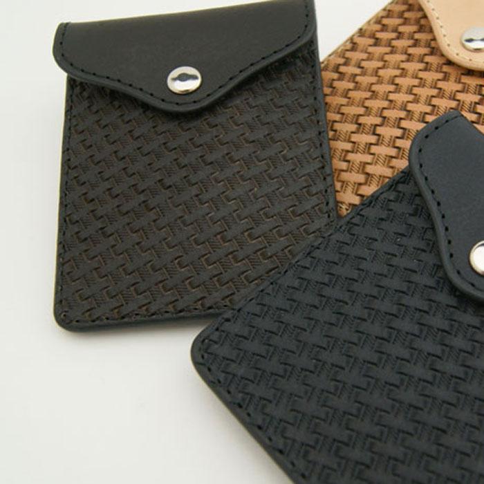 携帯灰皿 金具/糸まで国産 LeatherWorks CHAOS レザーワークスカオス バリーキング重ね彫り 深押しバスケットスタンプカービング 多機能 アシュケース 携帯小銭入れ コインケース