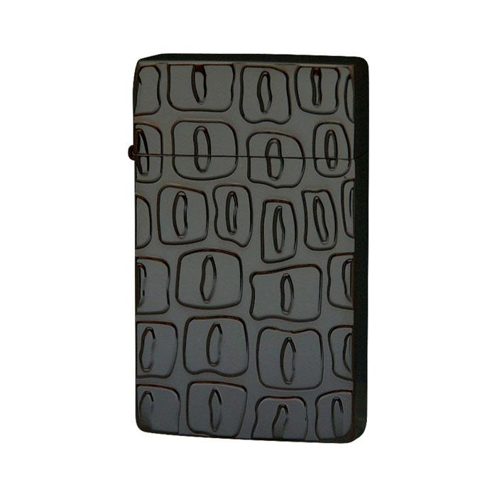 SAROME サロメ ジェットフレームライター≪SRM EXCEL Crocodile Black Engrave Titanium Coating[deep] SRM ライター スパイラルサーキュラーフレイム クロコダイルパターン ブラック チタンコーティング≫ガスライター【送料無料】