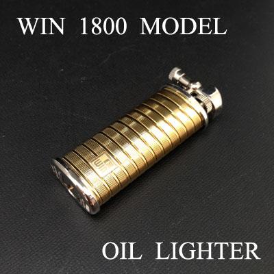オイルライター / ≪WIN #1800 モデル ゴールドダイヤカット ウイン≫【CHAOS Lighter Bar】 ラッピング 【送料無料】【smtb-m】