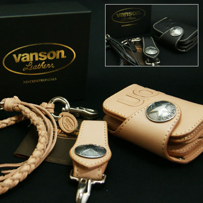 VANSON バンソン 二つ折り 革財布 ショート ウォレット VP-115-02S【フルセット】/日本製/財布/長財布/本革/バイカーズウォレット/ライダーズウォレット/【送料無料】【突破1205】