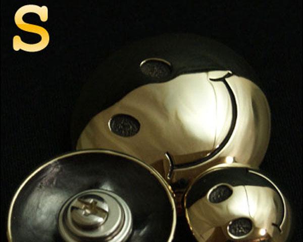 ≪スマイル スマイリーピースマーク コンチョ【Sサイズ/直径20mm】≫≪真鍮 ブラス≫国産高級スクリュー使用【 レザーウォレット専門店 】【レザーワークス カオス】【楽ギフ_包装】【メール便可】