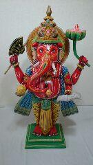 ●【木造 ガネーシャ像】インド ガネーシャ 夢を叶える