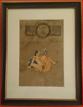 ◆【アンティーク紙 絵画 カーマスートラ】インド/アンティーク/絵画/