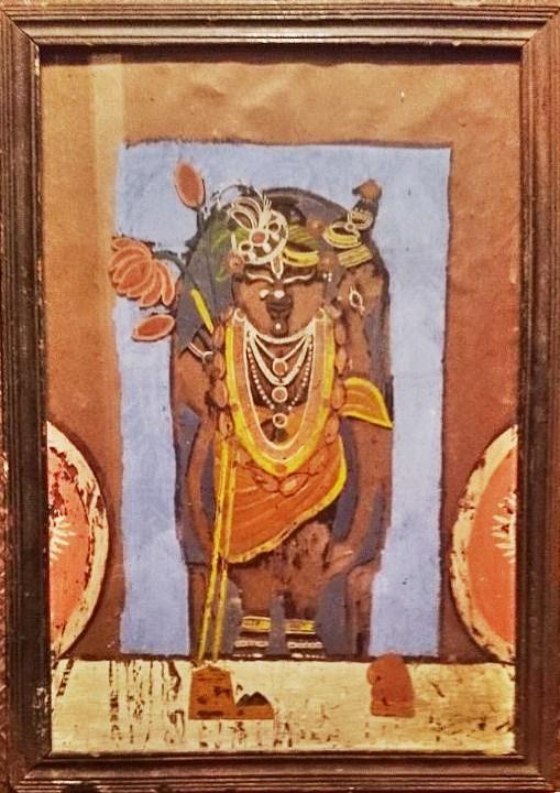 送料無料!!◆【ゴーパラ(牛飼い)】アンティーク/絵画/インド/クリシュナ/