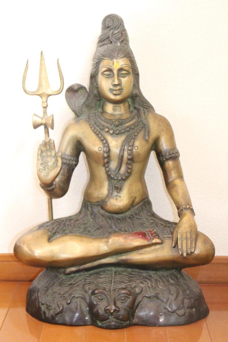 【〇シヴァ神 真鍮製神像】インド 神様 破壊 創造 ダンス