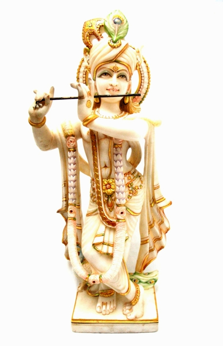 〇【大理石神像 クリシュナ】インド クリシュナ 瞑想 スピリチュアル 神像
