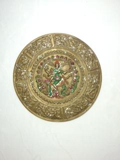●【真鍮製 シヴァ壁掛】インド シヴァ アンティーク 骨董
