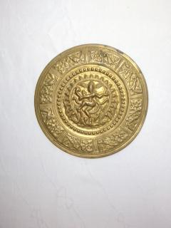 ●【真鍮製 シヴァ壁掛】インド シヴァ アンティーク 真鍮 骨董