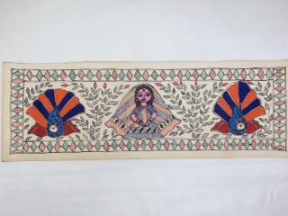 送料無料!!◆【ミティラー画(手すき紙)小】インド雑貨 アジアン雑貨 伝統画法 ミティラー画 手すき紙 ピカソ