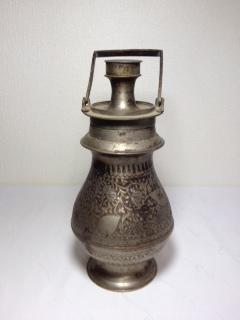 ●【真鍮製 ジャグ(水筒)】アンティーク インド ポット 骨董