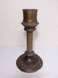●【真鍮製 ろうそく立て】アンティーク インド 骨董 ろうそく スタンド