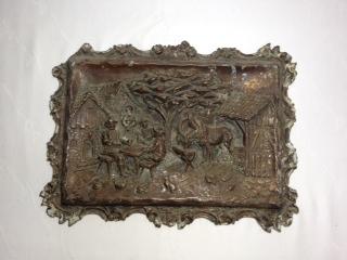 ●【真鍮製 額】アンティーク インド 骨董 真鍮