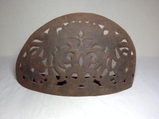 〇【鉄製 ランプ 楕円形】アンティーク インド 骨董