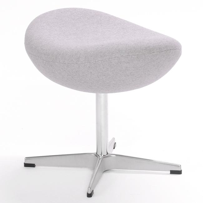 Jacobsen Egg Chair Ottoman Stool Grey