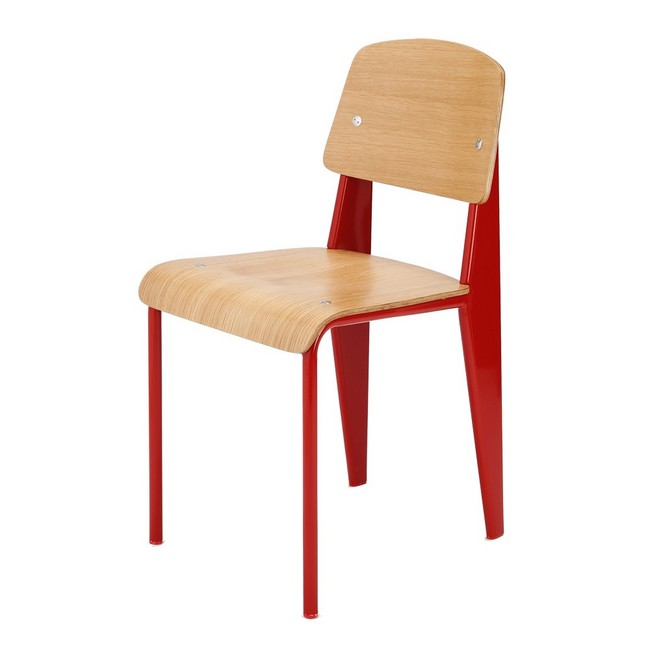 A Famous Architect In France, Jean Prouvé デザイナーズファニチャー, Standard Chair (  Standardzair ) Nostalgic Design Somewhere As A Student In Classroom ...