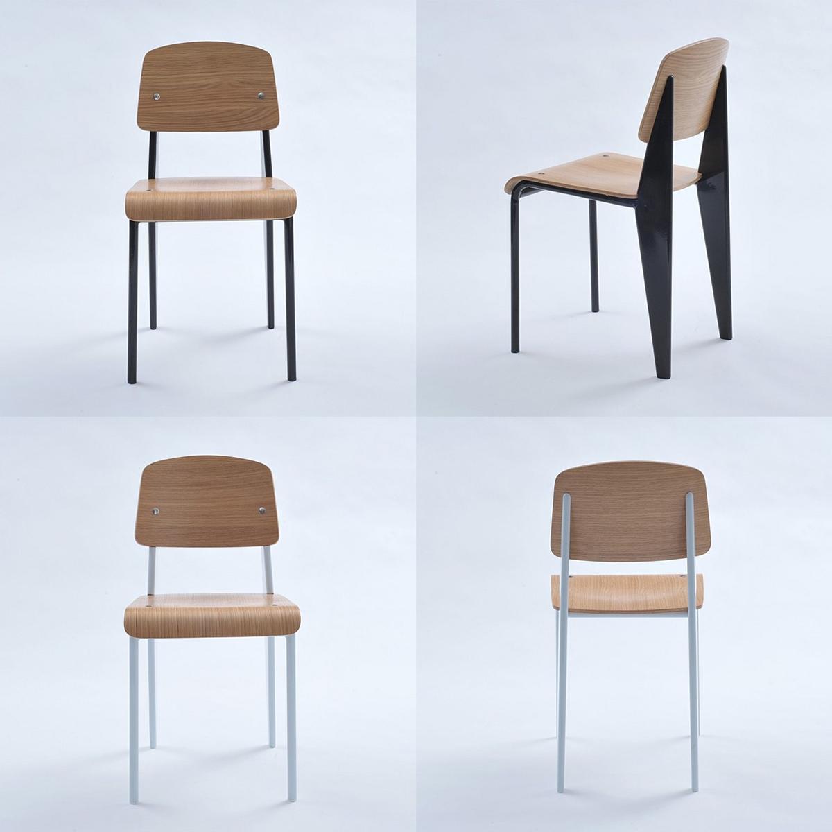 Jean Prouve Standard Chair White