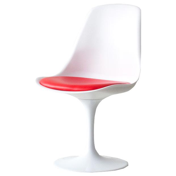 Tulip Chair Eero Saarinen Red Eero Saarinen PVC Urethane Foam Chair Chair  ABS