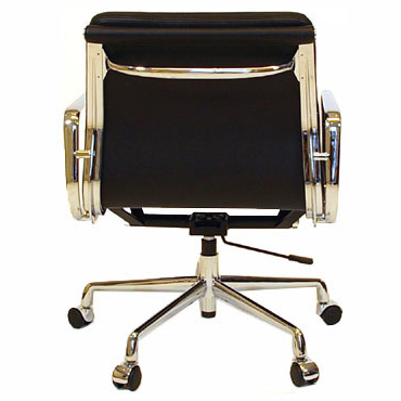 Miraculous Eames Office Chair Aluminum Short Back Soft Pad Black Forskolin Free Trial Chair Design Images Forskolin Free Trialorg