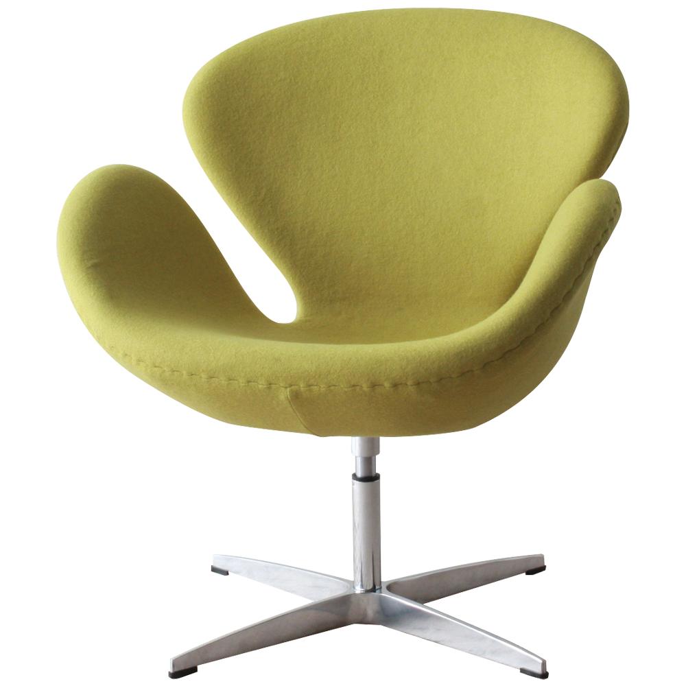 スワンチェア ヤコブセン グリーン アルネ・ヤコブセン おしゃれ かわいい デザイナー アルネ・ヤコブセン チェア swanchair 椅子 北欧 ノルディック リプロダクト