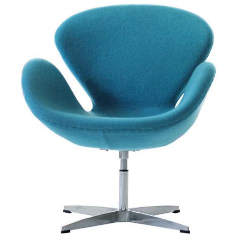 スワンチェア ヤコブセン ターコイズブルー アルネ・ヤコブセン おしゃれ かわいい デザイナー アルネ・ヤコブセン チェア swanchair 椅子 北欧 ノルディック リプロダクト