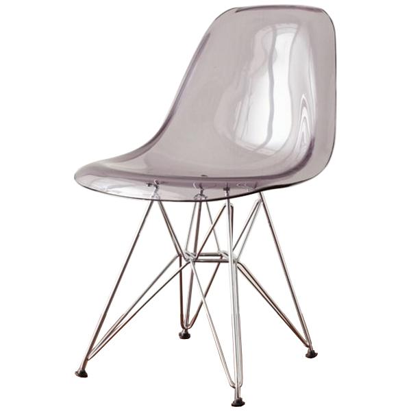 Shell Chair Eames DSR Clear Grey