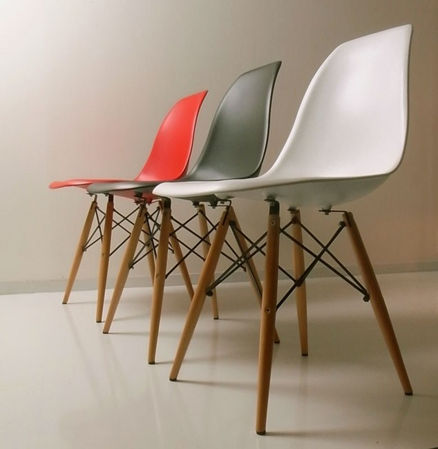 Eames DSW Gloss Without White Shell Chair Eames Chair
