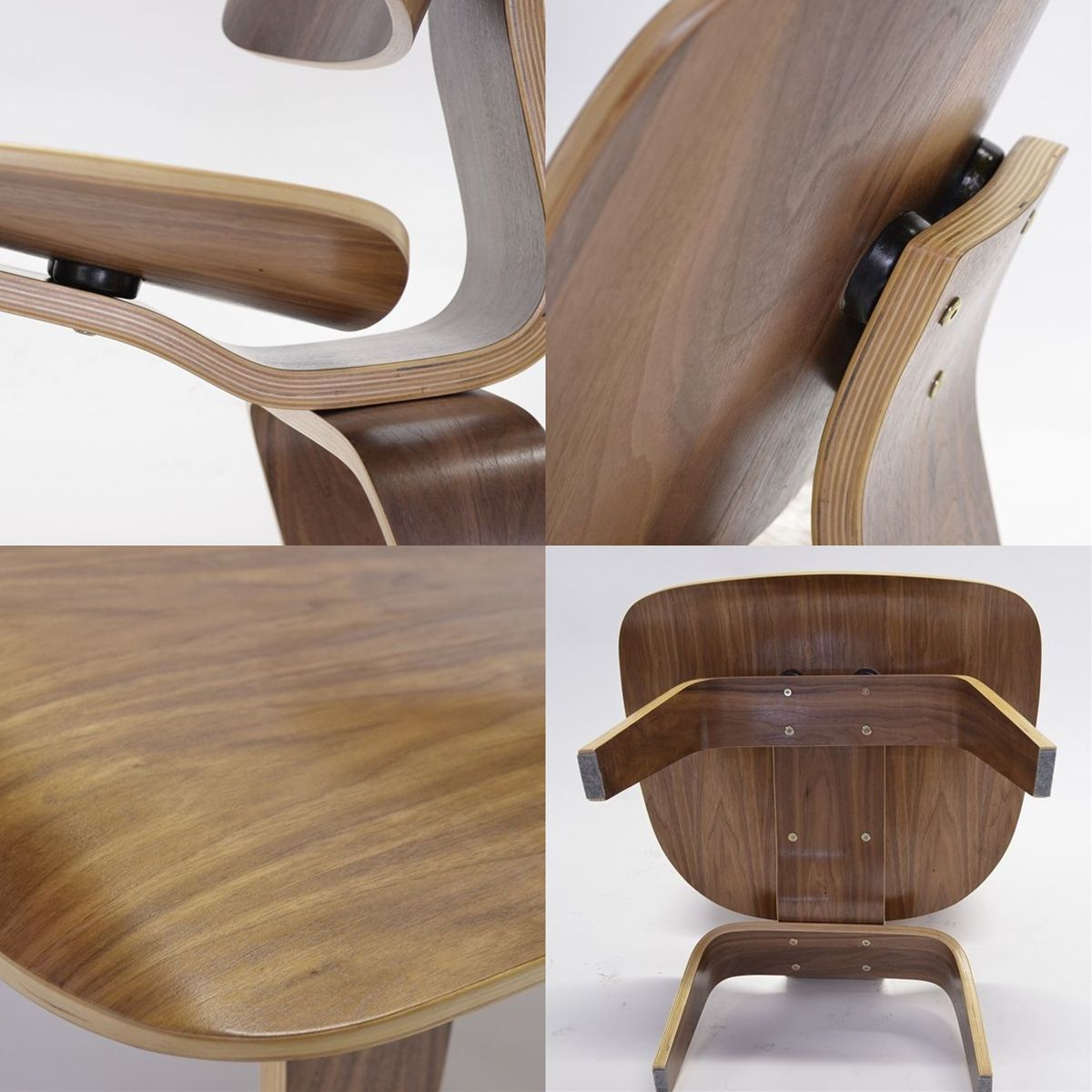Eames molded plywood chair living room - Eames Lcw Lounge Chair Wood Walnut