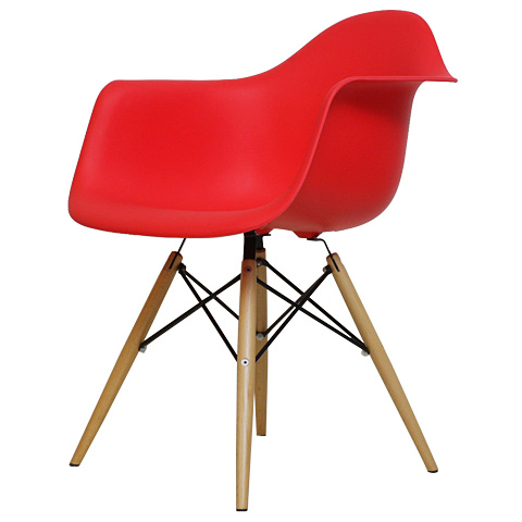 chaoscollection shell chair dining chairs eames daw pp red rakuten global market. Black Bedroom Furniture Sets. Home Design Ideas