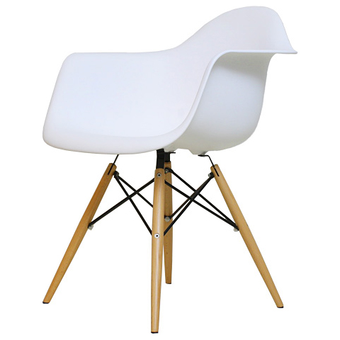 eames daw pp white アームシェルチェア shell chair dining chair