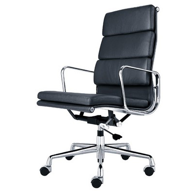 Eames Office Chair aluminum hiback pads black