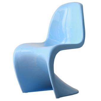 スタッキングチェア おしゃれ かわいい パントンチェア つやあり ツヤあり ブルー 青 ジェネリック リプロダクト ヴェルナー・パントン デザイナー 椅子 スタッキング チェアー リプロダクト