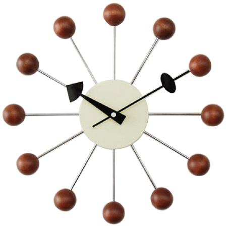 ジョージネルソン 壁掛時計 時計 ボールクロック ウォールナット ブラウン 壁掛け ウォルナット 定番の人気シリーズPOINT ポイント 入荷 正規品 ジョージ 掛時計 おしゃれ 壁掛け時計 ネルソン かっこいい 人気ブランド 送料無料 掛け時計 かわいい ネルソンクロック