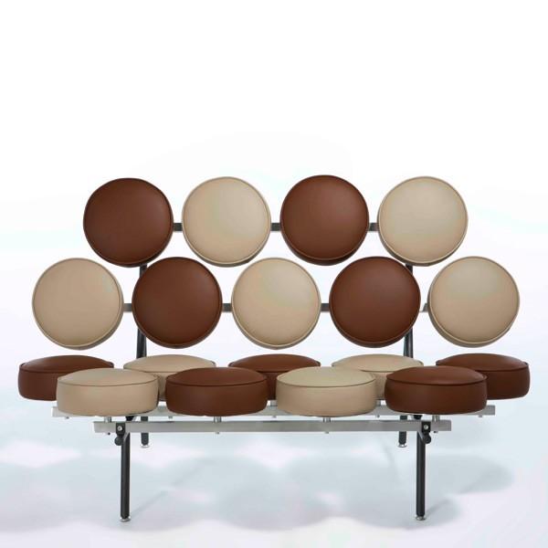 George Nelson Marshmallow Sofa Sofa Sheet Brown Beige