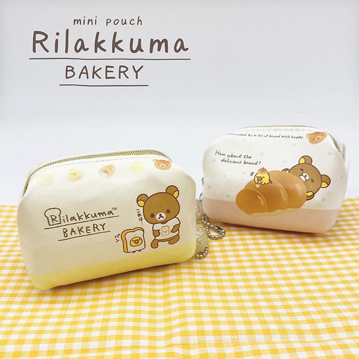 リラックマ ミニポーチ 小物入れ サンエックス San-X Rilakkuma パン ストラップ付き 人気海外一番 評価 コインケース キイロイトリ ミニケース