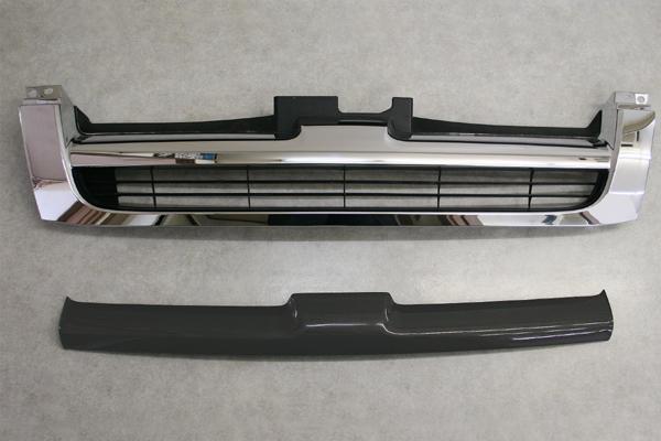 チャージスピード CHARGESPEED 撃速 ハイエース H200系 前期 標準ボディ グリルフィニッシャー FRP製