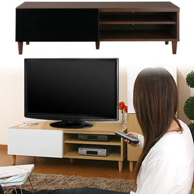 インテリア モダン 家具 TV台 テレビボード テレビラック ローボード TVボード AVボード テレビ台 アンティーク 送料無料 ブラウン おしゃれ 幅120