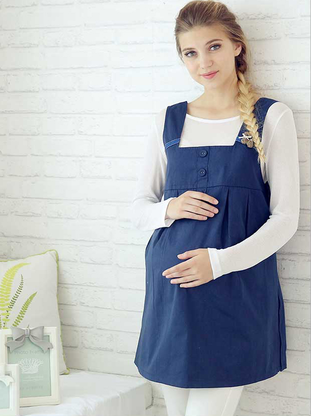 73d0f2c2435e7 charmbaby: Prevention of prevention of electromagnetic wave dress navy-blue  electromagnetic wave electromagnetic wave apron maternity pregnant woman ...
