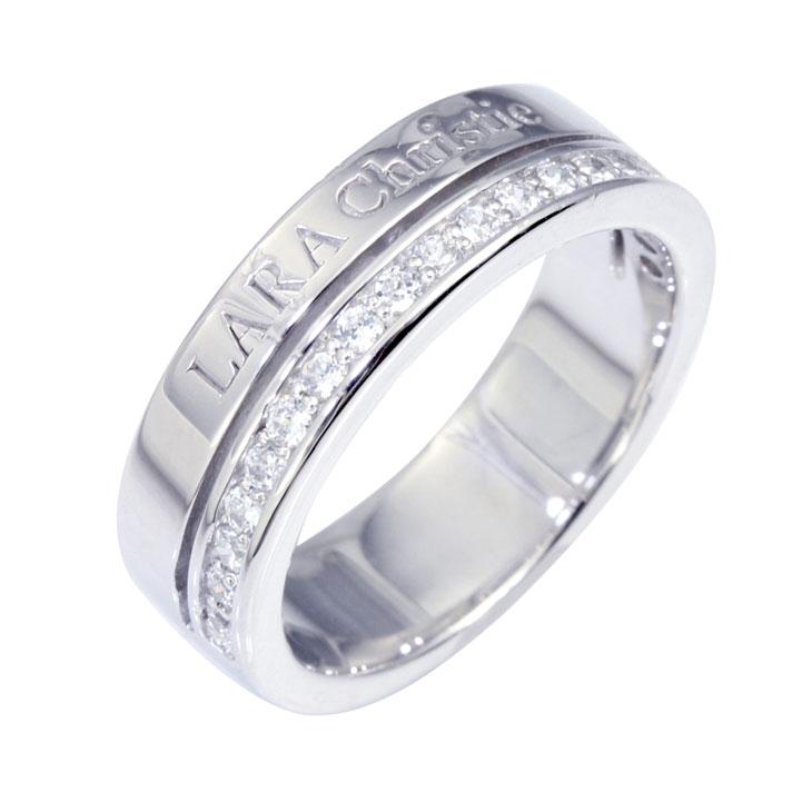 LARA Christie リング レディース 指輪 シルバーアクセサリー トラディショナル WHITE Label r3867-w