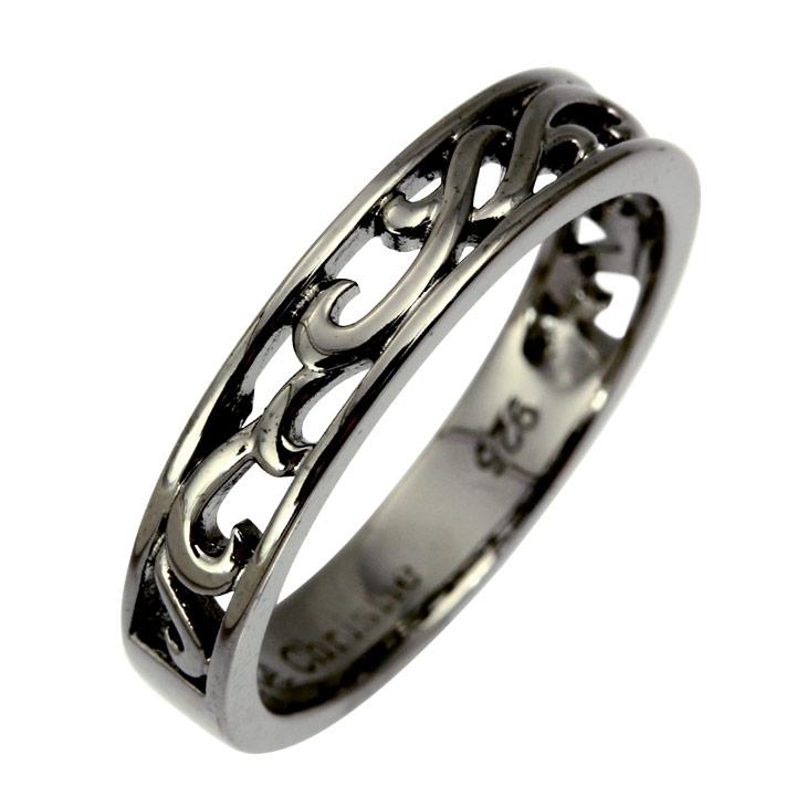 ララクリスティーはAneCan掲載の人気ブランド。高貴で優雅さを纏うジュエリー、シンプルで気品溢れるアクセサリーを本物志向の方へ。【P15】 LARA Christie リング メンズ 指輪 シルバーアクセサリー シルバー ランソー BLACK Label r6028-b