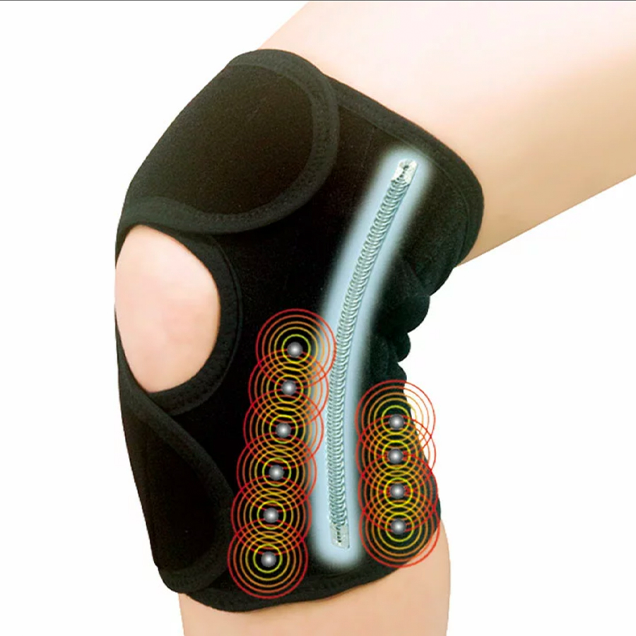 磁気膝サポーター ペガサス PEGASUS カラー:ブラック ベージュ医療機器ナックが開発した磁気治療器日本製!トルマリン磁石20個(管理医療機器ひざサポーター)磁気膝サポーターペガサス