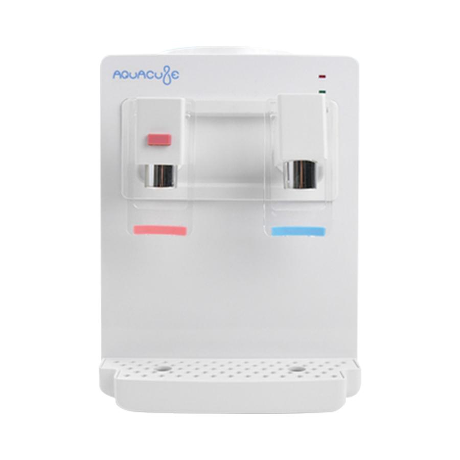 コンパクトウォーターサーバー AQUACUBE アクアキューブ KI-90509 メーカー保証1年付 冷水温水機能付(冷水:約12~15℃、温水:約85~95℃) 卓上ウォーターサーバー ペットボトル式(市販のペットボトル2リットルまで装着可能)