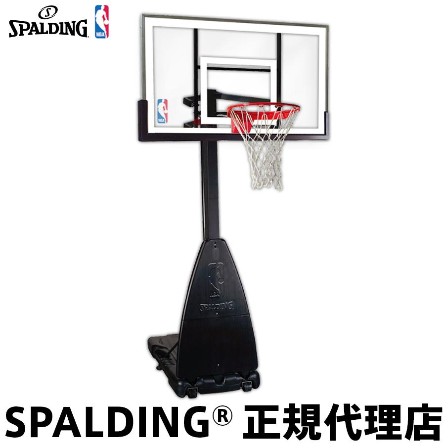 【5月下旬頃発送予定商品の予約販売です】 バスケットゴール バックボード SPALDING スポルディング PLATINUM PORTABLE プラチナム ポータブル 家庭用 屋外用 組立サービスなし