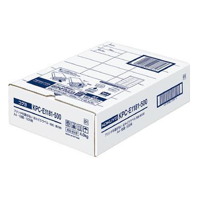 【コクヨ】プリンタを選ばないはかどりラベル KPC-E1181-500N【送料無料】【配送方法は選べません】