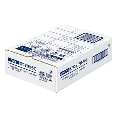 【コクヨ】プリンタを選ばないはかどりラベル KPC-E1211-500N【送料無料】【配送方法は選べません】